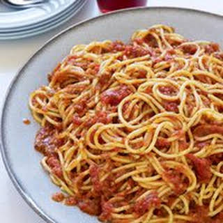 Spicy Sicilian Spaghetti with Anchovies.