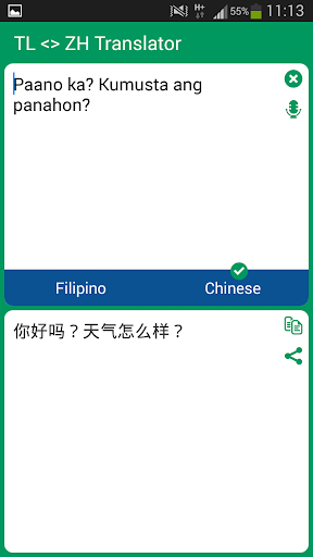 Filipino - Chinese Translator