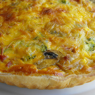 Sausage, Mushroom, and Broccoli Quiche.