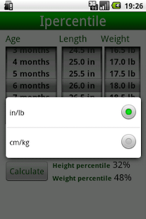 Percentile Growth Charts - screenshot thumbnail
