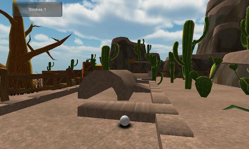 玩體育競技App|漫画砂漠ミニゴルフ 3D免費|APP試玩