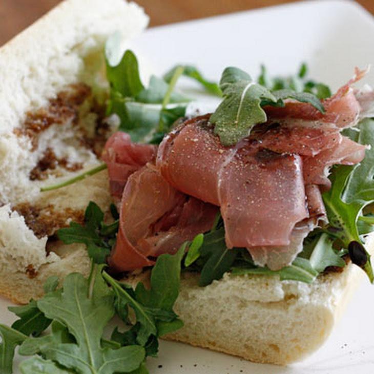 Prosciutto, Arugula and Balsamic Sandwich Recipe