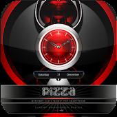 pizza clock widget pizza theme