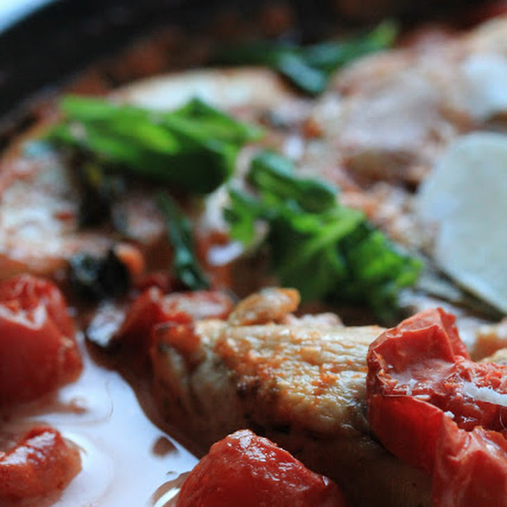 Baked Chicken with Creamy Tomato and Basil Sauce Recipe