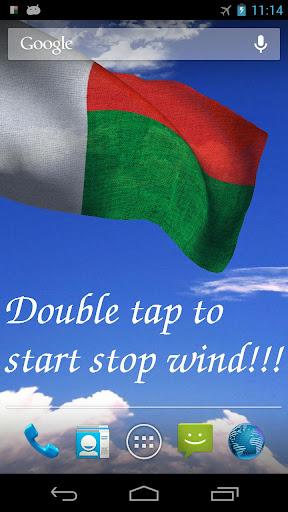 3D Madagascar Flag LWP