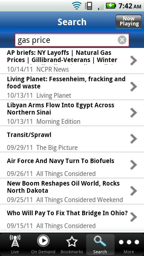 WYSU Public Radio App - screenshot
