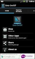 Screenshot of Data ON OFF widget