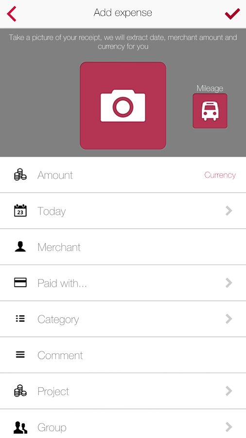 Xpenditure - Expense Reports- screenshot