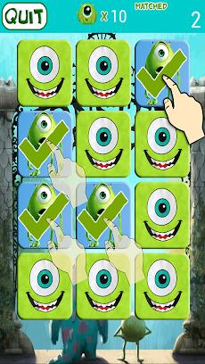 Monster Inc Kids Memory Gameのおすすめ画像2