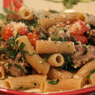 Roasted Tomato and Sausage Pasta.