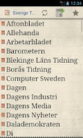 Screenshot of Sverige Tidningar