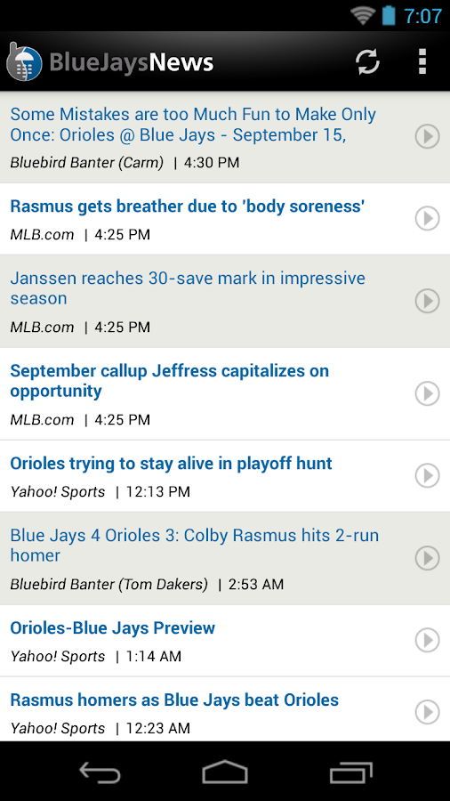 ZM: Blue Jays News - screenshot
