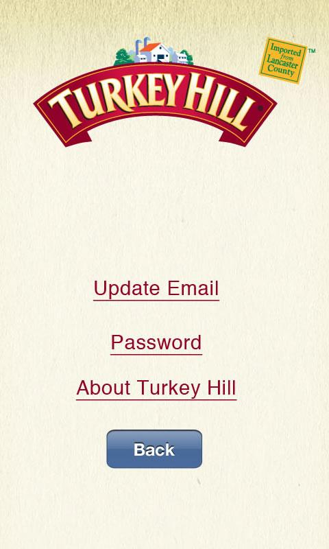 Turkey Hill Shopping List - screenshot