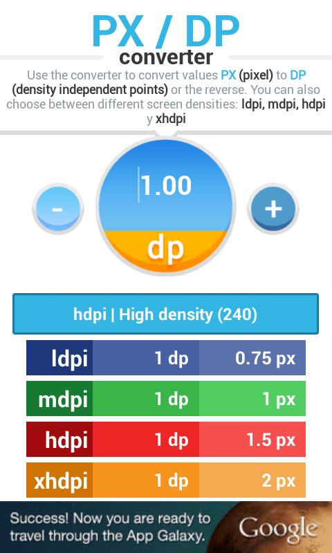 PX DP converter - screenshot
