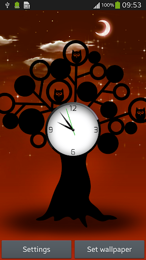 Download Tree Clock Live Wallpaper Google Play Softwares