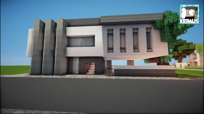 Modern house minecraft designs
