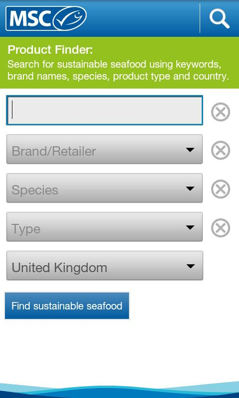 Seafood Finder- screenshot