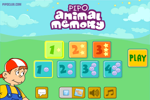 Pipo Animal Memory: captura de pantalla