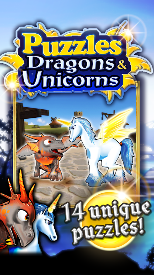 Puzzles Dragons & Unicorns HD- screenshot