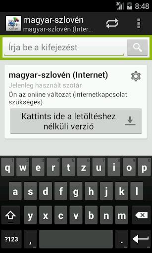Magyar-Szlovén szótár
