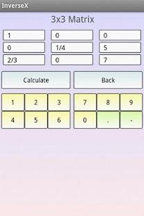 Matrix Inversion Calculator- screenshot thumbnail