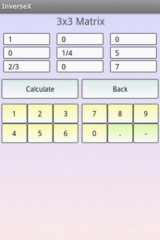 Matrix Inversion Calculator- screenshot