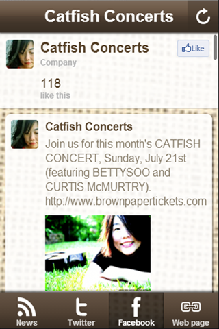 Catfish Concerts - screenshot