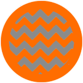 Chevron Orange Silver Theme
