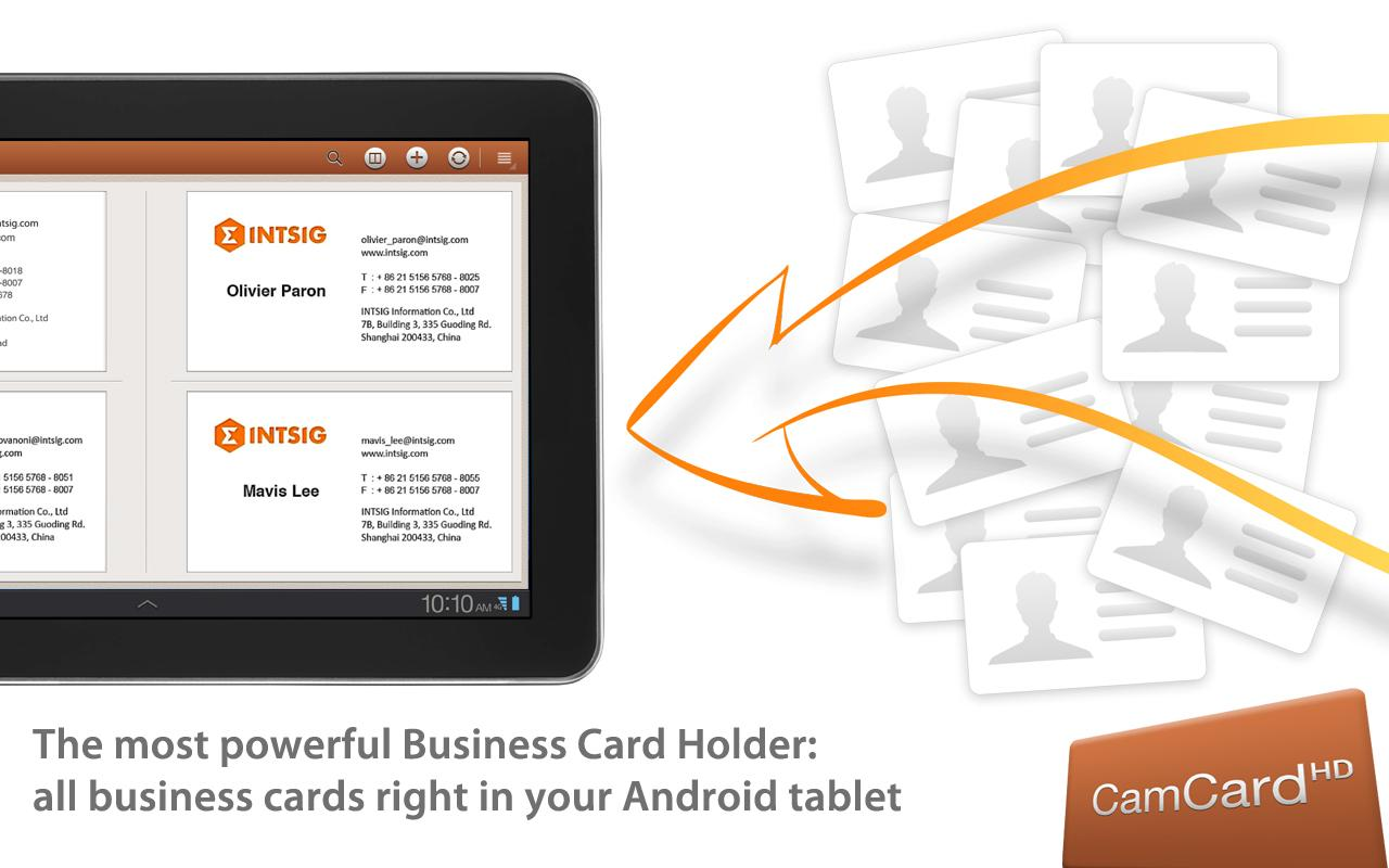 CamCard HD Free-BizCard Reader- screenshot