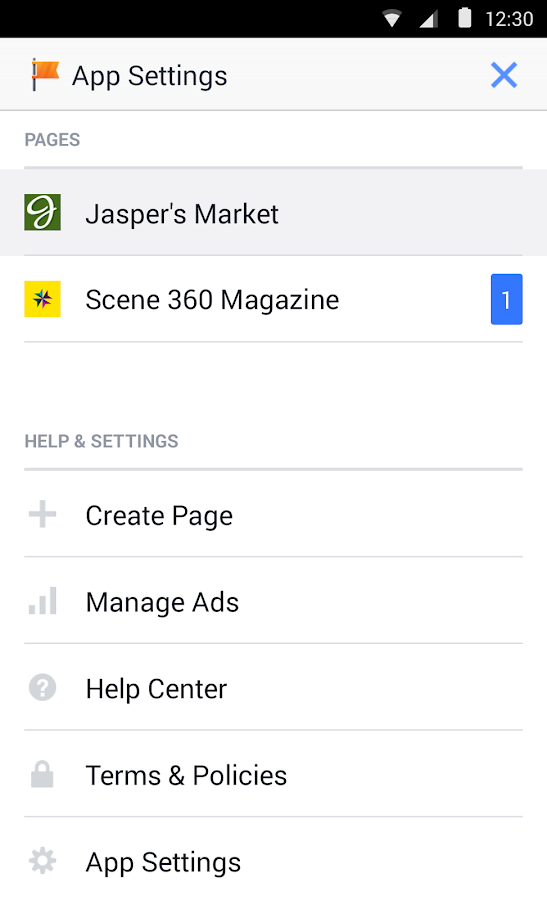 Facebook Pages Manager - screenshot