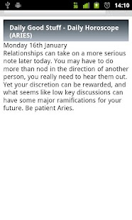 Aries Daily Horoscope - screenshot thumbnail