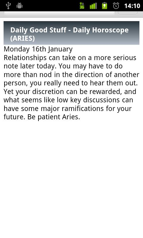 Aries Daily Horoscope - screenshot