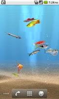 Screenshot of aniPet Freshwater Aquarium LWP