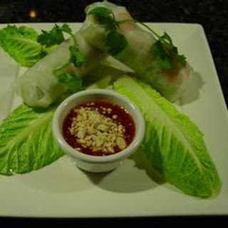 Thai Basil Rolls with Hoisin-Peanut Sauce.