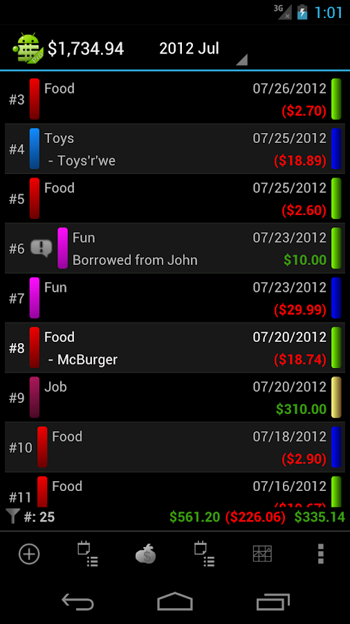 MoneyDroid Lite- screenshot