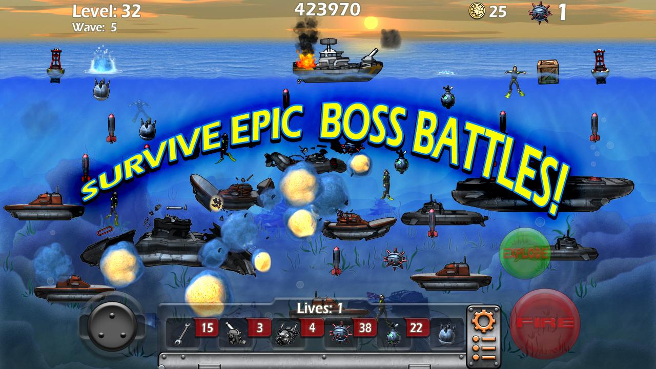 Epic Sea Battle Sub Pirates- screenshot
