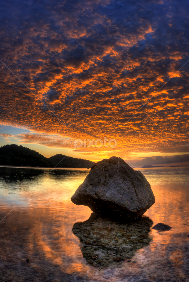 Lines and rock by Richard ten Brinke - Landscapes Waterscapes (  )
