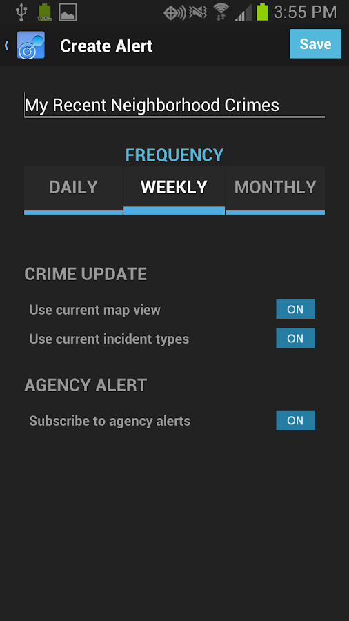 CrimeReports- screenshot