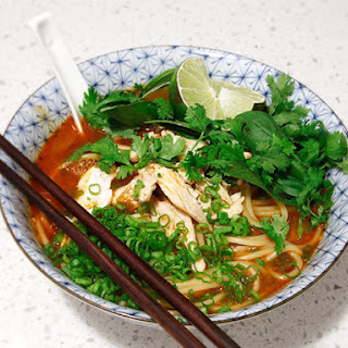 20-Minute Thai Red Curry Noodle Soup with Chicken