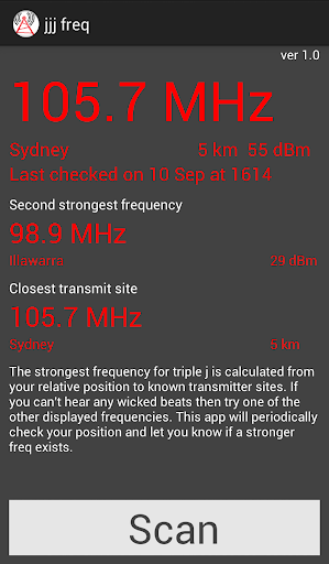 triple j Frequency Finder