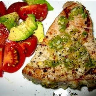 Grilled Jalapeno Tuna Steaks.