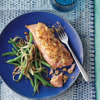 Honey-Mustard Salmon with Green Beans