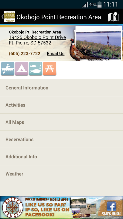 SD State Parks Guide- screenshot