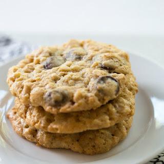 Oatmeal-Dark Chocolate Chip & Coconut Cookies.