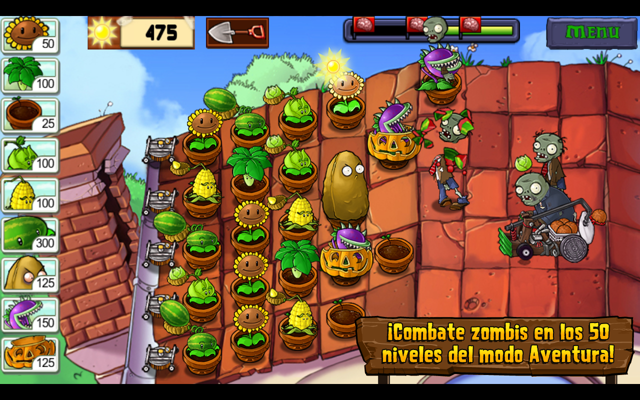Plants vs. Zombies™: captura de pantalla