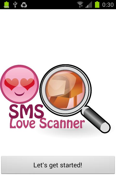 SMS Love Scanner - screenshot