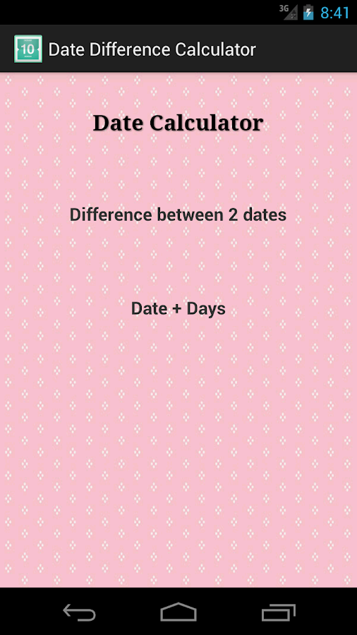 Days between dates calculator in Sydney