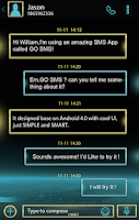 Screenshot of GO SMS PRO SPACE THEME EX