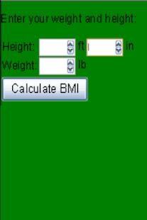 BMI Calculator- screenshot thumbnail