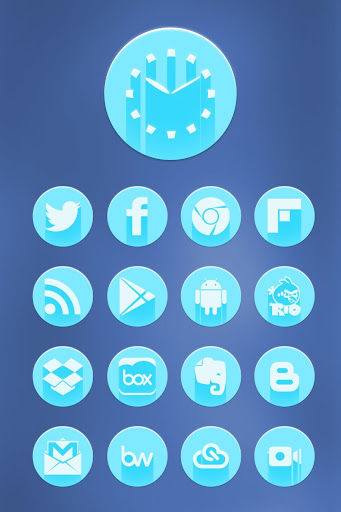 Blue Icon Pack Theme